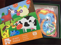 Trò chơi xếp hình cho bé - Tranh ghép nông trại - Lego giúp bé làm ...