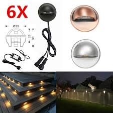 6pcs Lot 35mm 12v Ip65 Low Voltage Half Moon Eyelid Led Deck Rail Step Stair Fence Lights Wall Lamp Garden Terrace Lighting Kit Led Underground Lamps Aliexpress