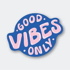 Blue Good Vibes Only Sticker Pike St Press