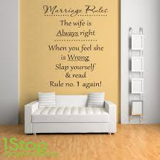 Marriage Rules Wall Sticker Quote Bedroom Lounge Home Wall Art Decal X301 Ebay