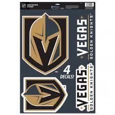 Vegas Golden Knights Wincraft 11 X 17 Multi Use Decal Sheet