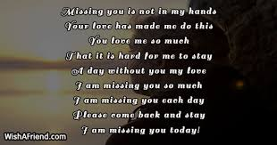 missing you is not in my thinking of