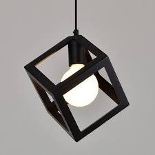 antique vintage cube pendant light