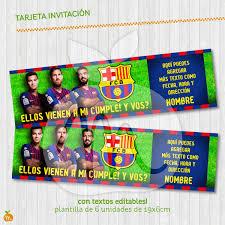 Extraordinario Invitaciones Gratis Para Imprimir Del Barcelona