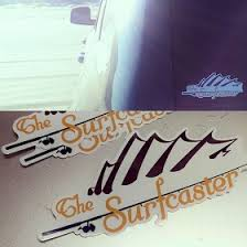The Surfcaster Fin Clear Vinyl Decal The Surfcaster