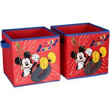Disney Mickey Mouse 2 Pack Storage Cube Walmart Com Walmart Com