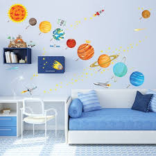 Kids Solar System Map Wall Decals Stickers Great For The Bedroom Or The Classroom Space Themed Bedroom Kid Room Decor Boy Room