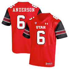 Men's Dres Anderson 6 Utah Utes NCAA Football Jersey Red ...