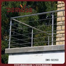 China Steel Wire Fence For Balcony Dms B2203 China Wire Fence Post For Landing Aluminum Iron Balustrade