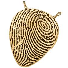 fingerprint guitar pick solid 14k gold