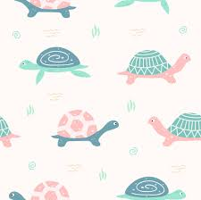 cute turtle seamless pattern for