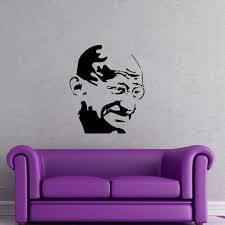 Mahatma Gandhi Portrait Wall Decal Give Any Wall A Fresh New Look With This Amazing Mahatma Gandhi Portrait Diy Wall Decals Portrait Wall Wall Decor Stickers
