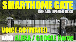Control Your Gate Garage Door With Alexa Google Home Youtube