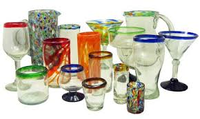 drinking glasses mexican hand blown