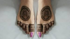 foot mehndi design simple tikki