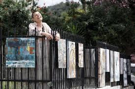 Highland Park Artist Creates A Sidewalk Gallery For Quarantine Los Angeles Times