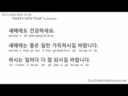 how to wish a happy new year in korean by talktomeinkorean com