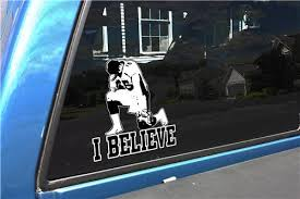Tebow I Believe Quarterback Broncos Florida Gators Vinyl Car Decal Achtung T Shirt Ww2 Military T Shirts And Pro Gun T Shirts
