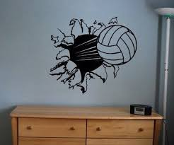 Volleyball Vinyl Wall Decal Sticker Large Base Ball Kids Etsy