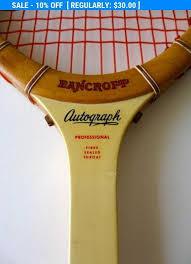 vintage bancroft autograph wood tennis