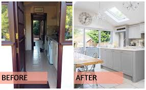 small galley kitchen renovated into