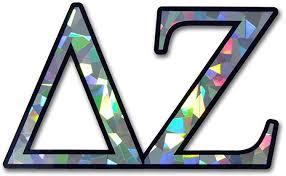 Amazon Com Dz Delta Zeta Sorority Reflective Decal Sticker Automotive