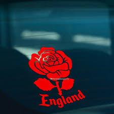 England English Rose Red Car Window Bumper Or Laptop Vinyl Decal Sticker Ebay