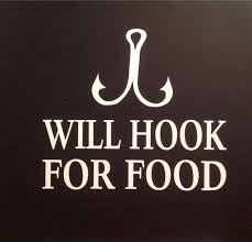 Will Hook For Food Funny Fishing Vinyl Decal