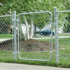 Mtb 4 Ft H X 2 5 Ft W Galvanized Chain Link Garden Walking Fence Metal Gate Reviews Wayfair