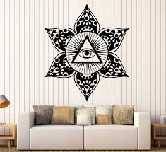 Vinyl Wall Decal Eye Of Providence All Seeing Eye Masonic Symbol Stick Wallstickers4you