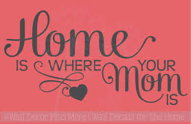 home is where mom is family wall decals stickers vinyl kitchen quotes