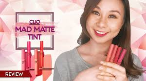 clio mad matte tint swatches and