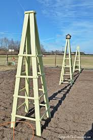 garden obelisk plans metal plans diy