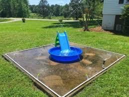 make the kids a splash pad the