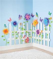 Garden Fairy Wall Stickers Kids Room Decor Garden Bedroom Kid Room Decor Paper Flowers