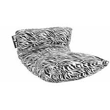 Jo E Big Joe Duo Bean Bag Zebra Print Armchair Kids Teenagers Bedroom Dorm Lounger