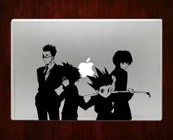 Hunter X Hunter Squad Anime Decal Sticker Vinyl For Apple Macbook Pro Air Retina 13 15 Inch Laptop Decals Macbook Decal Stickers Anime Decals Macbook Decal