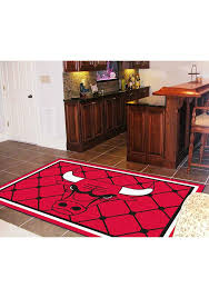 chicago bulls team logo interior rug