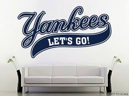 Details About Ny Yankees Let S Go Wall Decal W Complementary Squeegee Home Car Decor Wall Decals Car Decor Go Yankees
