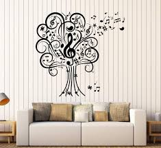 Vinyl Wall Decal Musical Tree Music Art House Interior Room Stickers U Wallstickers4you