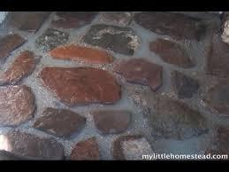 homemade mortar making a simple rock