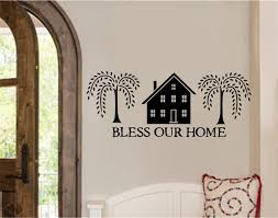 Bless Our Home Vinyl Decal Wall Stickers Letters Words Primitive Country Home Decor