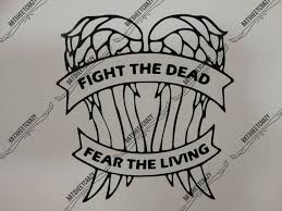 The Walking Dead Daryl Dixon Wings With Fight The Dead Etsy