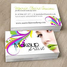 edgy makeup artist business card template