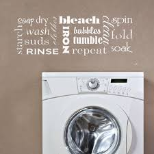 Self Serve Laundry Room Vinyl Wall Art Decal Stickers House Decor Removable
