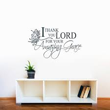 Shop I Thank You Lord Amazing Grace 36 X 21 Inch Wall Decal Overstock 10670698