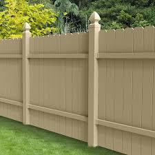 Shop Barrette Select Desert Sand Dog Ear Privacy Vinyl Fence Panel Common 72 In X 6 Ft Actual Cedar Fence Fence Design Vinyl Fence