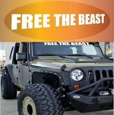 Free The Beast Windshield Decal Topchoicedecals