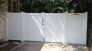 All Out Fence Inc White Pvc Vinyl Fence Gate Image Proview