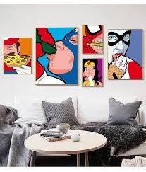 Canvas Art Print Secret Lives Of Superheroes Poster Pop Art Kids Room Decor Funny Batman Spiderman Superman Cuadros Buy At The Price Of 10 00 In Aliexpress Com Imall Com